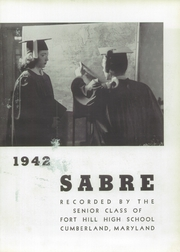 Page 7, 1942 Edition, Fort Hill High School - Sabre Yearbook (Cumberland, MD) online yearbook collection