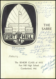 Page 5, 1952 Edition, Fort Hill High School - Sabre Yearbook (Cumberland, MD) online yearbook collection