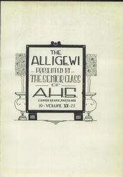 Page 13, 1927 Edition, Allegany High School - Alleganac Yearbook (Cumberland, MD) online yearbook collection