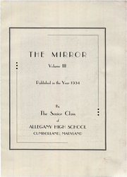 Page 7, 1934 Edition, Allegany High School - Alleganac Yearbook (Cumberland, MD) online yearbook collection