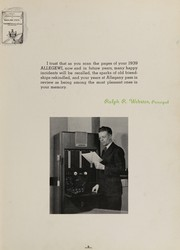 Page 13, 1939 Edition, Allegany High School - Alleganac Yearbook (Cumberland, MD) online yearbook collection