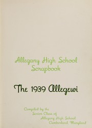 Page 7, 1939 Edition, Allegany High School - Alleganac Yearbook (Cumberland, MD) online yearbook collection