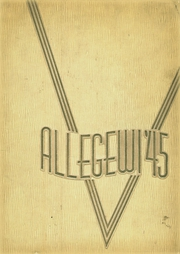 Allegany High School - Alleganac Yearbook (Cumberland, MD) online yearbook collection, 1945 Edition, Page 1