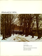 Page 5, 1974 Edition, Pikesville High School - Pinnacle Yearbook (Baltimore, MD) online yearbook collection