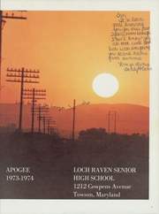 Page 5, 1974 Edition, Loch Raven High School - Apogee Yearbook (Baltimore, MD) online yearbook collection