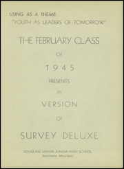 Page 5, 1945 Edition, Frederick Douglass High School - Survey Yearbook (Baltimore, MD) online yearbook collection