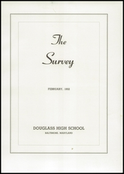 Page 5, 1952 Edition, Frederick Douglass High School - Survey Yearbook (Baltimore, MD) online yearbook collection
