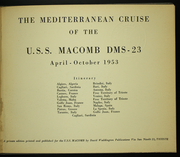 Page 5, 1953 Edition, Macomb (DMS 23) - Naval Cruise Book online yearbook collection