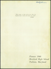 Page 5, 1960 Edition, Hereford High School - Pioneer Yearbook (Parkton, MD) online yearbook collection