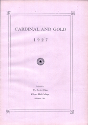 Page 11, 1927 Edition, Calvert Hall College High School - Cardinal and Gold Yearbook (Baltimore, MD) online yearbook collection