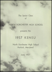 Page 5, 1957 Edition, North Dorchester High School - Keneu Yearbook (Hurlock, MD) online yearbook collection