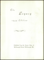 Page 5, 1949 Edition, McDonogh School - Dragon Yearbook (Owings Mills, MD) online yearbook collection