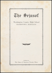 Page 7, 1923 Edition, Hagerstown High School - Heiskelite Yearbook (Hagerstown, MD) online yearbook collection