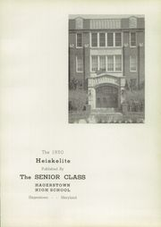 Page 7, 1950 Edition, Hagerstown High School - Heiskelite Yearbook (Hagerstown, MD) online yearbook collection