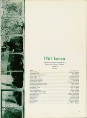 Page 5, 1961 Edition, Pittsburg State University - Kanza Yearbook (Pittsburg, KS) online yearbook collection