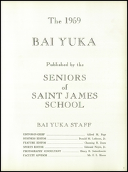 Page 7, 1959 Edition, St James School - Bai Yuka Yearbook (St James, MD) online yearbook collection