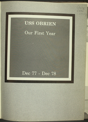 Page 5, 1979 Edition, O Brien (DD 975) - Naval Cruise Book online yearbook collection