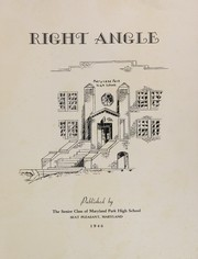 Page 3, 1946 Edition, Maryland Park High School - Right Angle Yearbook (Seat Pleasant, MD) online yearbook collection