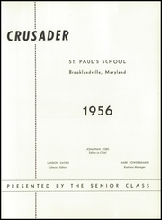 Page 5, 1956 Edition, St Pauls School - Crusader Yearbook (Brooklandville, MD) online yearbook collection