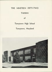Page 5, 1952 Edition, Taneytown High School - Tahian Yearbook (Taneytown, MD) online yearbook collection