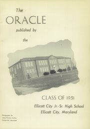 Page 5, 1951 Edition, Ellicott City High School - Oracle Yearbook (Ellicott City, MD) online yearbook collection