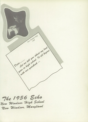Page 5, 1956 Edition, New Windsor High School - Echo Yearbook (New Windsor, MD) online yearbook collection
