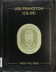 Page 1, 2003 Edition, Princeton (CG 59) - Naval Cruise Book online yearbook collection