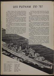 Page 6, 1954 Edition, Putnam (DD 757) - Naval Cruise Book online yearbook collection