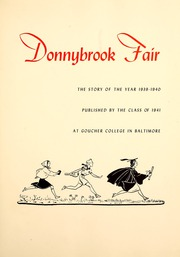 Page 9, 1941 Edition, Goucher College - Donnybrook Fair Yearbook (Baltimore, MD) online yearbook collection