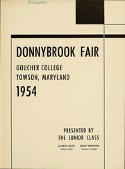 Page 2, 1954 Edition, Goucher College - Donnybrook Fair Yearbook (Baltimore, MD) online yearbook collection