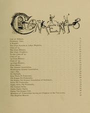 Page 11, 1891 Edition, Johns Hopkins University - Yearbook (Baltimore, MD) online yearbook collection