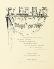 Page 14, 1893 Edition, Johns Hopkins University - Hullabaloo Yearbook (Baltimore, MD) online yearbook collection