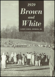 Page 7, 1959 Edition, Landon School - Brown and White Yearbook (Bethesda, MD) online yearbook collection