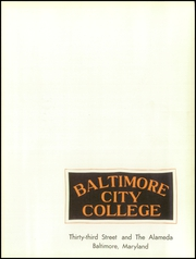 Page 5, 1958 Edition, Baltimore City College - Green Bag Yearbook (Baltimore, MD) online yearbook collection