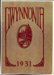 1931 Edition, Gwynns Falls Junior High School - Gwynnonia Yearbook (Baltimore, MD)