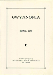 Page 7, 1931 Edition, Gwynns Falls Junior High School - Gwynnonia Yearbook (Baltimore, MD) online yearbook collection