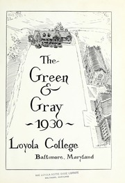 Page 7, 1930 Edition, Loyola University Maryland - Evergreen / Green and Gray Yearbook (Baltimore, MD) online yearbook collection