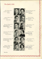 Page 17, 1936 Edition, Pennsylvania Avenue High School - Quill Yearbook (Cumberland, MD) online yearbook collection