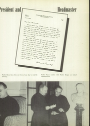 Page 11, 1952 Edition, Georgetown Preparatory School - Cupola Yearbook (North Bethesda, MD) online yearbook collection