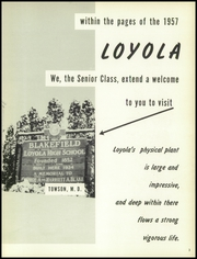 Page 7, 1957 Edition, Loyola High School - Yearbook (Towson, MD) online yearbook collection