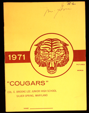 1971 Edition, Colonel E Brooke Lee Middle School - Cougar Yearbook (Silver Spring, MD)