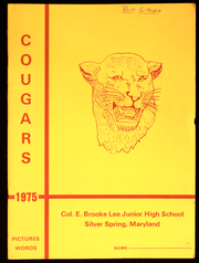 Page 1, 1975 Edition, Colonel E Brooke Lee Middle School - Cougar Yearbook (Silver Spring, MD) online yearbook collection