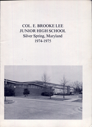 Page 3, 1975 Edition, Colonel E Brooke Lee Middle School - Cougar Yearbook (Silver Spring, MD) online yearbook collection