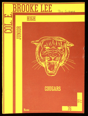 1977 Edition, Colonel E Brooke Lee Middle School - Cougar Yearbook (Silver Spring, MD)