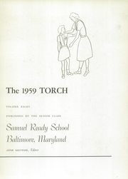 Page 7, 1959 Edition, Samuel Ready School - Torch Yearbook (Baltimore, MD) online yearbook collection