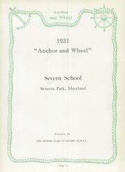 Page 11, 1931 Edition, Severn School - Yearbook (Severna Park, MD) online yearbook collection