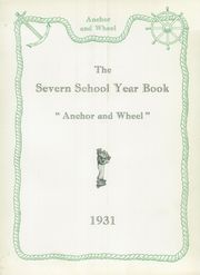 Page 7, 1931 Edition, Severn School - Yearbook (Severna Park, MD) online yearbook collection