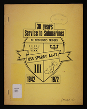 Page 1, 1972 Edition, Sperry (AS 12) - Naval Cruise Book online yearbook collection