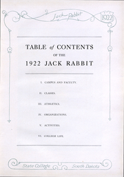 Page 7, 1922 Edition, South Dakota State College - Jack Rabbit Yearbook (Brookings, SD) online yearbook collection
