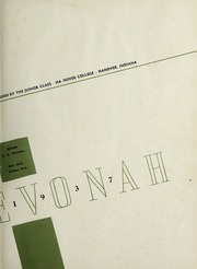 Page 7, 1937 Edition, Hanover College - Revonah Yearbook (Hanover, IN) online yearbook collection